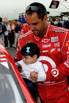 NASCAR driver Juan Pablo Montoya & daughter Manuela