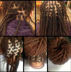 Two Strand Twists on Locs...I can do this on someone...would love to ...