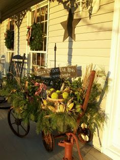Erma, is this your porch? -Farmhouse Country Style: A Country Christmas and a Christmas Party!