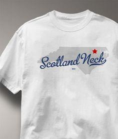 Cool Scotland Neck North Carolina NC Shirt from Greatcitees.com