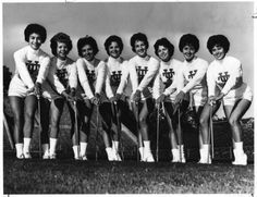 The University of Tennessee majorettes in 1961.The pictured was titled in the paper 'High-Stepping Cuties.'