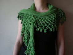 Presence - Green Knitted/Crocheted shawl/scarf   Flickr - Photo Sharing!
