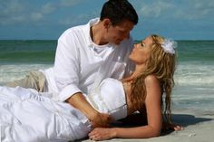 beach wedding. intimate photo. trash the dress  Photo by Darlayne Coughlin