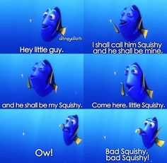 Dory Finding Nemo Squishy Dori and her squishyFinding Nemo Bad Squishy