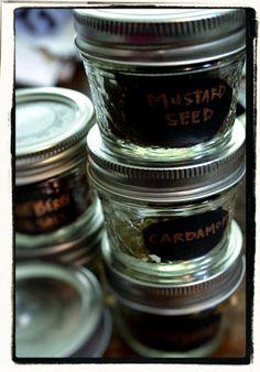 Girl Gone Granola: DIY Under-Cabinet Magnetic Mason Jar Spice Rack