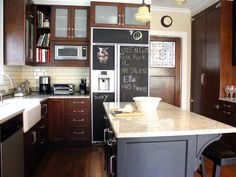 Chalkboard Paint Ideas for the Kitchen >> http://www.diynetwork.com/kitchen/chalkboard-paint-ideas-for-the-kitchen/pictures/index.html?soc=pinterest#