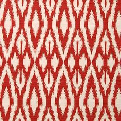 Duralee Hot Pepper Red Ikat Fabric Custom Window by Divinepanels