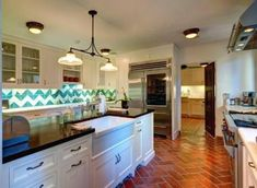 Beautiful kitchen in Kelsey Grammers 1920's Spanish home in Beverly