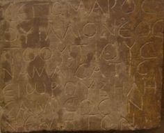 "Gaulish - RIG G-172 inscription ϹΕΓΟΜΑΡΟϹ ΟΥΙΛΛΟΝΕΟϹ ΤΟΟΥΤΙΟΥϹ ΝΑΜΑΥϹΑΤΙϹ ΕΙωΡΟΥ ΒΗΛΗϹΑΜΙ ϹΟϹΙΝ ΝΕΜΗΤΟΝ ""Segomaros, son of Uillū, citizen[13] (toutious) of Namausos, dedicated this sanctuary to Belesama"""