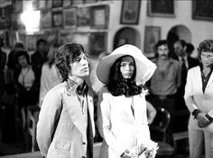 Mick and Bianca Jagger, 1970s.