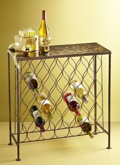 Dazzle your guests with a Pier 1 Sparkle Wine Console