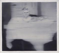 Gerhard Richter, Säugling auf einem Tisch (Infant on a Table) 1965, 40 cm x 44 cm,  Oil on canvas