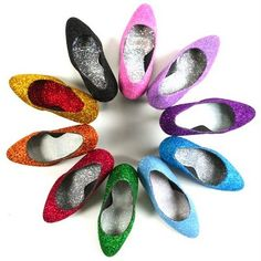 Love it! Make your boring shoes glitter shoes!! :-)