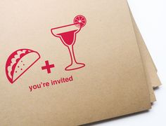 For the hostess with the mostess: 12 Taco & Margarita invites! $13.50, via @Etsy #MakeItWithTheLifeguard @Sauza® Tequila