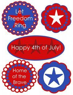 July Fourth Free Printables Digital juli fourth, juli 4th, 4th printabl, decorating ideas, 4th of july bike decorations, juli idea, juli printabl, free independ, craft junki