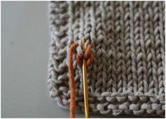 Duplicate stitch tutorial.