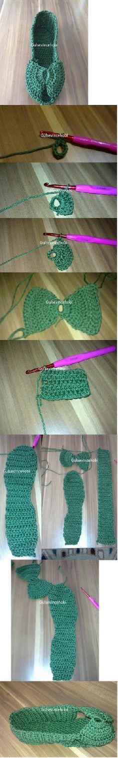 crochet slippandals! (slipper-sandals) - pictorial