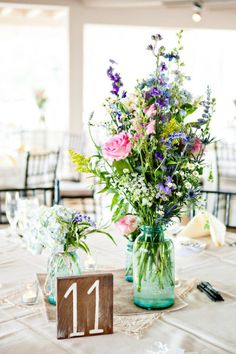 Center Pieces at the Tables