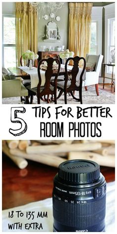 Five Tips for Taking Better Photos of a Room #PhotographyTips, #Tips For BetterRoomPhotos, #PhotographingRooms, #PhotoTips, #TipsForTakingBetterPhotos