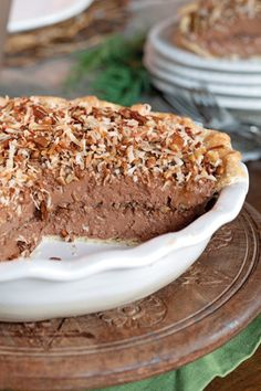 Frozen German Chocolate Pie german chocolate pie, chocolate bars, frozen german, shortbread pie crust, german chocolate icing, cold desserts, condensed milk, whipped cream, chocol pie
