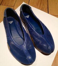 Adidas Jisho Performance Training Shoes. Blue Leather (UK Size 5)