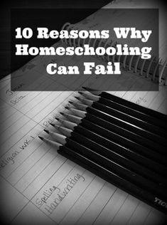 10 Reasons Homeschooling Can Fail