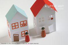 make paper cut-out mini dollhouses
