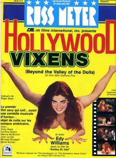 """Edy Williams ~ """"Beyond the Valley of the Dolls"""" ~ Russ Meyer film poster via"""