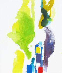 large abstract painting - oil and acrylic - Oak- July 29th - summer - original painting, Lauren Adams, etsy.com    ----BTW, Please Visit:  http://artcaffeine.imobileappsys.com    ----BTW, Please Visit:  http://artcaffeine.imobileappsys.com
