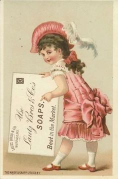 vintag postcard, buffalo ny, soap advertis, acm soap, trade card