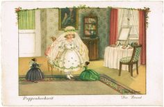Pauli Ebner Postcard. A Dolls Wedding