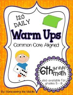Common Core Daily Warm Ups {6th Grade}