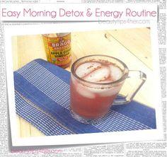 Easy Morning Detox & Energy Routine: Apple Cider Vinegar Elixir | Beauty and MakeUp Tips