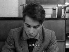 """""""Emptiness."""" • from Masculin Féminin (1966), directed by Jean-Luc Godard"""