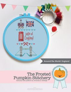 Around the World - England Pattern - The Frosted Pumpkin Stitchery