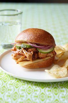 Slow Cooker Shredded Chicken from familycircle.com #myplate #slowcooker #chicken