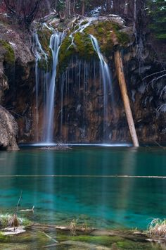 Hanging Lake is near Glenwood Springs, CO, USA.