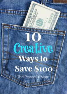 10 Creative Ways to Save $100 that you may not have though of including a way to use You Tube! - from ThePeacefulMom.com