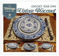 RubyRed Eclectic: FREE Pattern -Crochet your own Vintage Placemat!