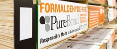 Planning a remodel or new cabinets. You'll find formaldehyde-free PureBond plywood at Home Depot.  Awesome!