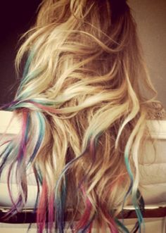 still love it. going blonde, dye hair, hair colors, colored hair, hairstyle ideas, food coloring, beauti, dip dyed, lauren conrad