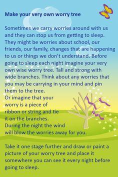 Worry Tree Worksheet on healthy living skills worksheets