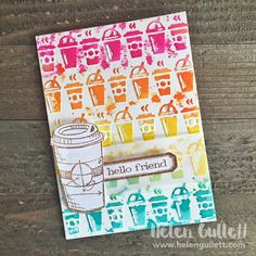 Card: Hello Friend -