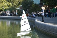 Sailing model boats in Central Park