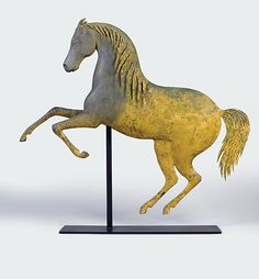 J. Howard & Co. rearing horse weathervane, ca. 1875. One of three known examples.