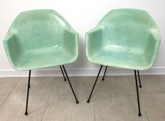 SEAFOAM green fiberglass chairs