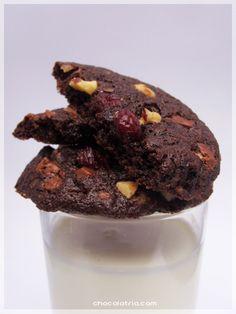 Cookies de Chocolate e Cranberry