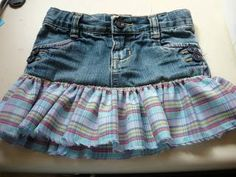 DIY jeans refashion: DIY Little Girl Jean Skirt