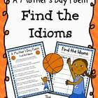 This FREEBIE includes a Mother's Day poem (in both color and black/white) that includes idioms. Students can find the idioms and identify them on t...