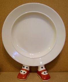 Carlton Ware Lustre Pottery Walking Ware red shoe plate.
